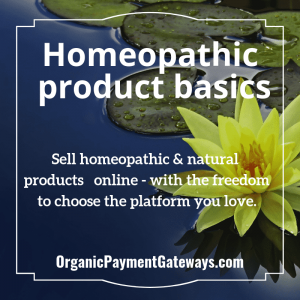 Homeopathic product basics
